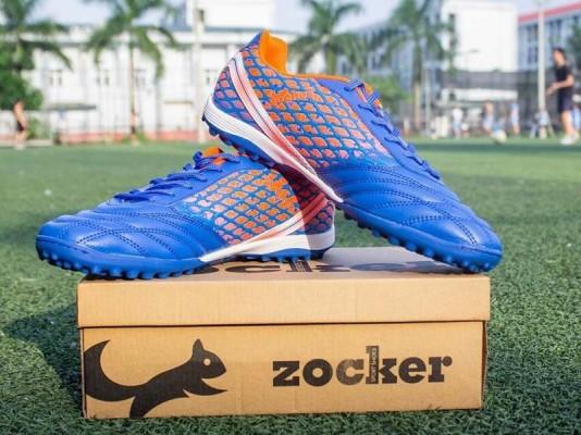 Giày đá bóng Zocker ZTF 18VT (Royal/Orange) dành cho trẻ em