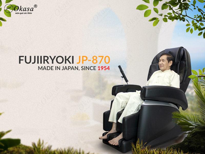 Ghế massage Nhật Bản FUJIIRYOKI JP-870